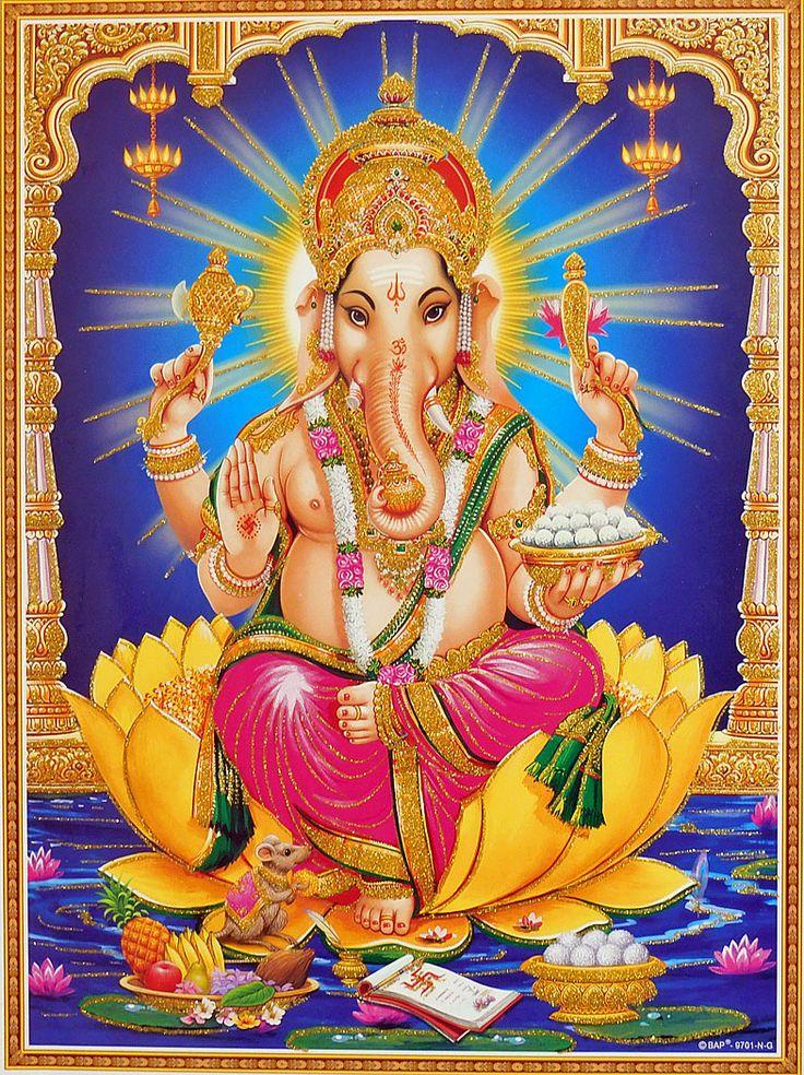 Lord Ganesha - Glitter Poster (Glitter Poster - Unframed)