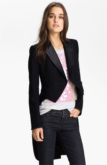Juicy Couture Convertible Tuxedo Tail Jacket | Nordstrom. Holy drama! I can't believe this one worked for a shortie like me!