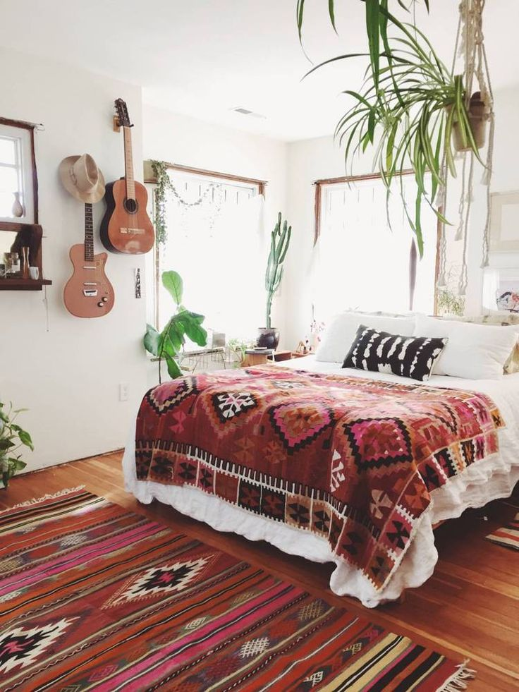 see more images from 31 boho rooms with too many prints in a good way - Bedroom Interior Design Pinterest