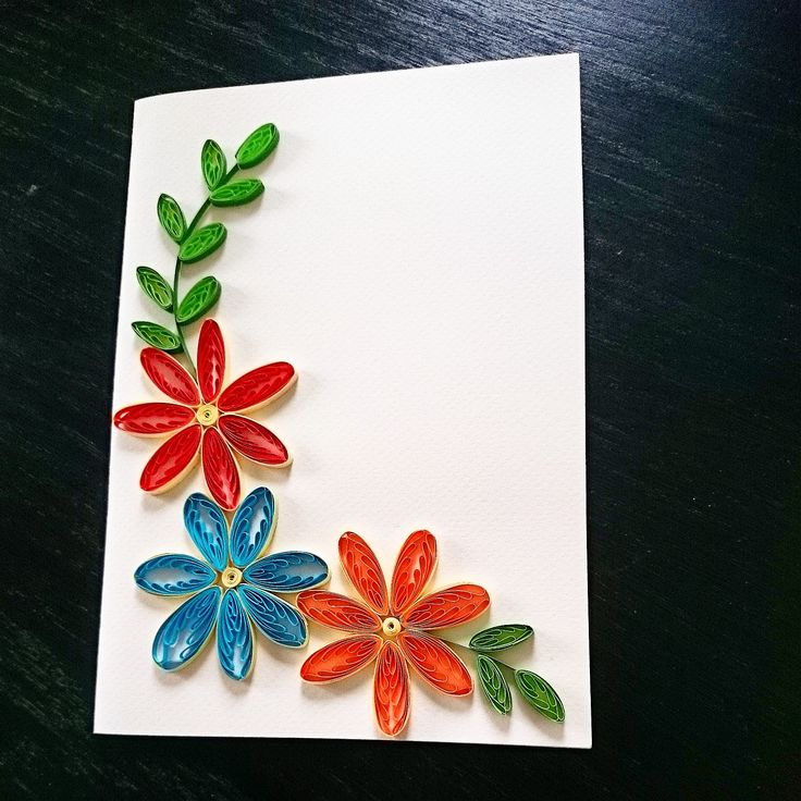 Flowers quilling (made on a comb)