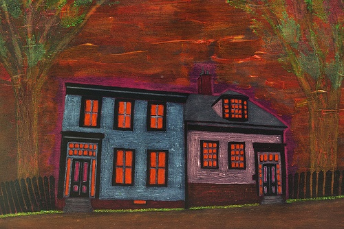 """""""Falkland Street"""" by Andy MacDonald 18"""" x 24"""" Acrylic and Resin on Board. Find Andy's work at Argyle Fine Art in Halifax, Nova Scotia :)"""