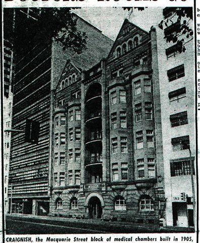 Sydney Architecture Images- Demolished- Craignish c. 1909-1970 Apartments.Now non descript building.