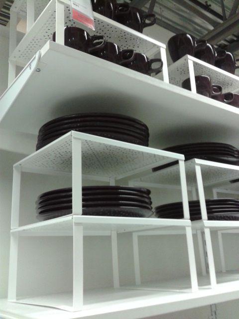 Ikea idea: cupboard organizers. these would be so nice!