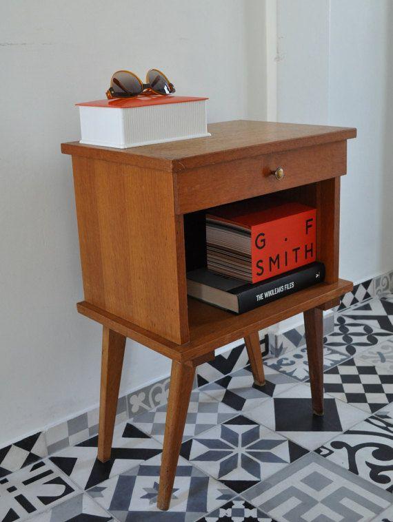 Franse Vintage kant eenheid Bedside tabel opslagruimte /