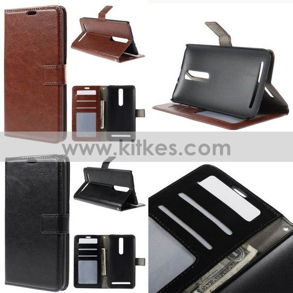 Wallet Stand Leather Case Asus Zenfone 2 ZE550ML