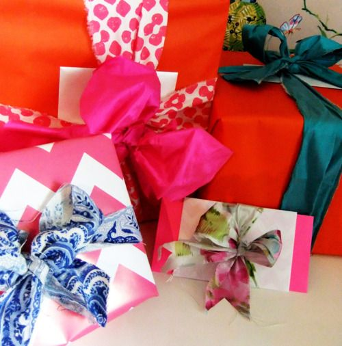 gorgeous gift wrapping.