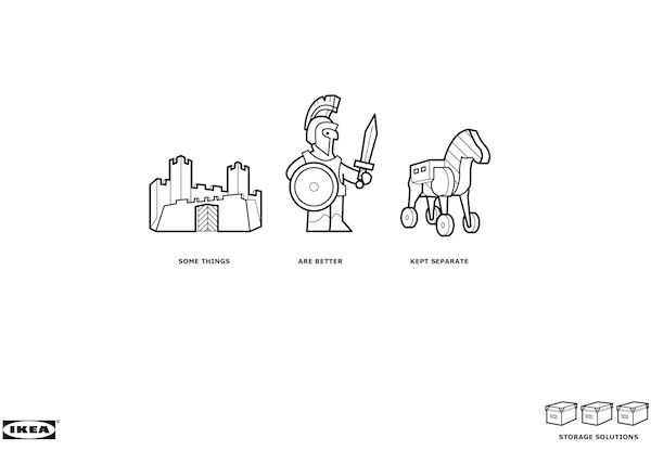 IKEA's Minimalistic Ads Cleverly Show 'Some Things Are Better Kept Separate' - DesignTAXI.com