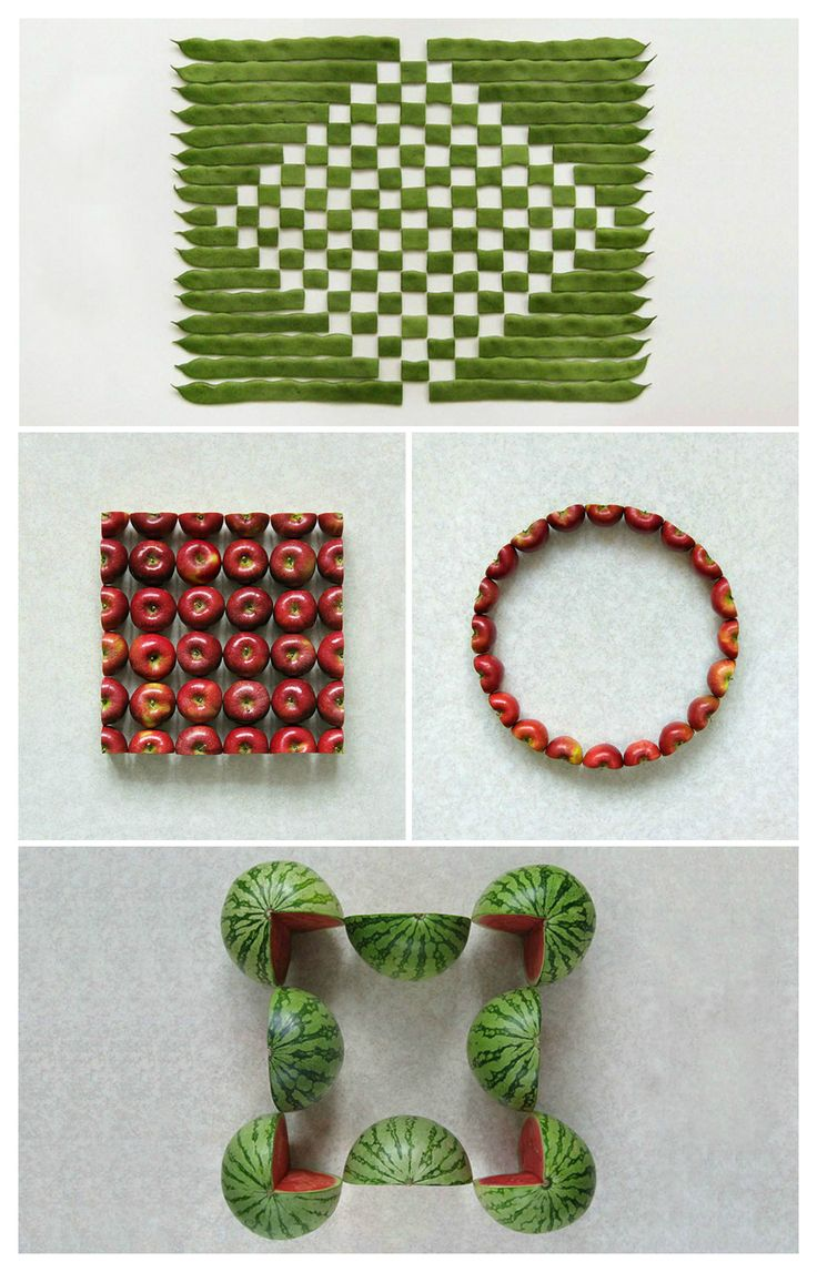 Kudos for this creative series of photographs depicting various geometric graphic creations realized with fruits and vegetables by Turkish artist and photographer Sakir Gokcebag.…