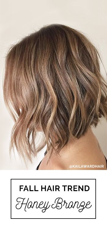 Gorgeous fall hair color idea! Honey Bronze is a flawless blend of bronde, brown and blonde tones all color melted into one. Hair By: Kaila Ward with Oway Hcolor