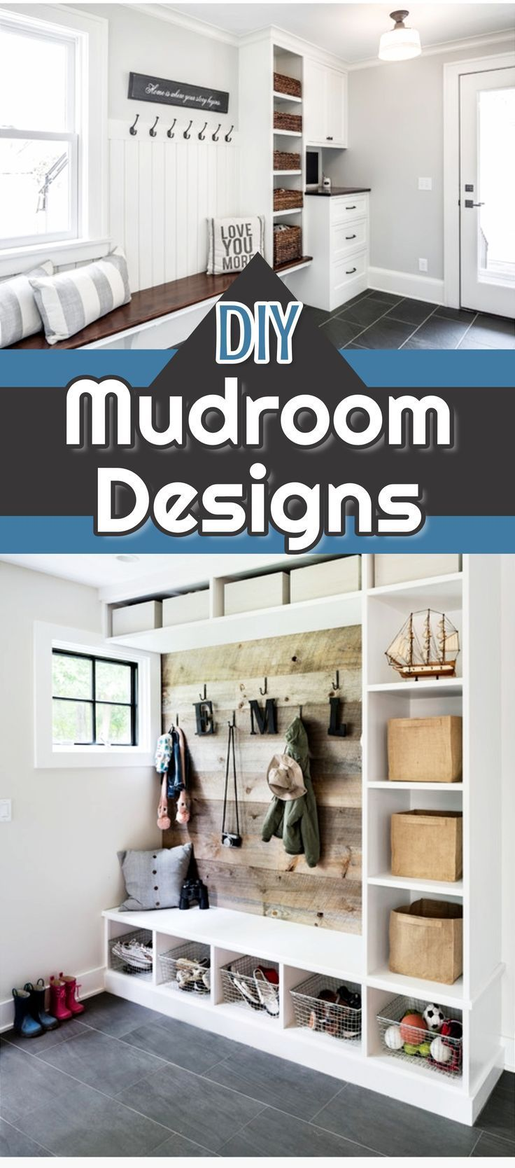 Diy Mud Room Designs And Pictures Of Mudrooms Decorating Ideas We Love Mudroom Cubbies Cabinets Baskets Organization Course