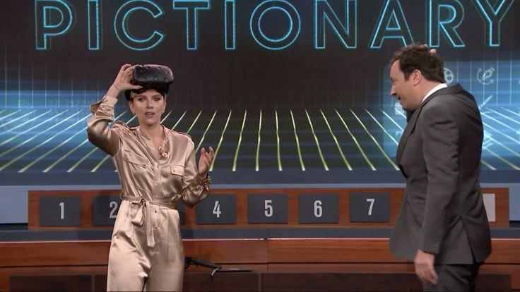 Scarlett Johansson Battles Other Celebrities In VR Pictionary On 'Fallon' - VRScout