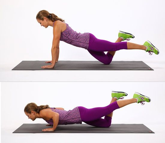 Push-Up Circuit Challenge: 4 Weeks to 50 Push-Ups - Fitsugar