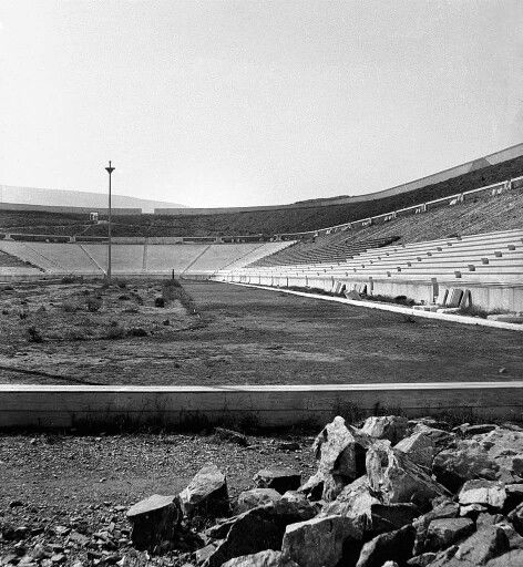 1896 - The Panathenaic Stadium in Athens is getting ready to host the 1st Olympic Games in modern history