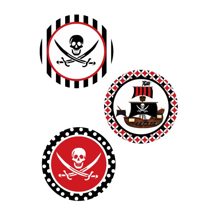 PIRATE PRINTABLE 4 INCH CIRCLES