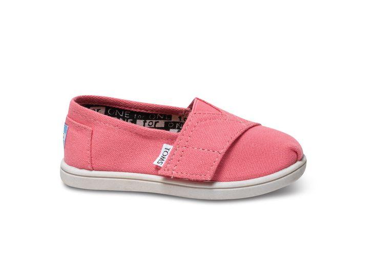 Pink Canvas Tiny TOMS Classics