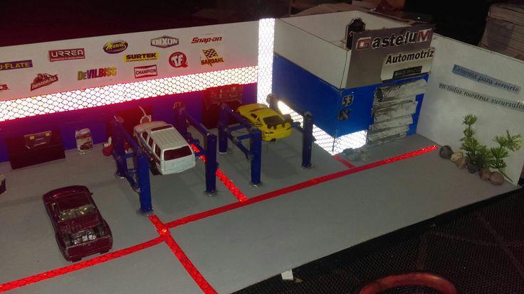 Maqueta de taller automotriz tareas escolares