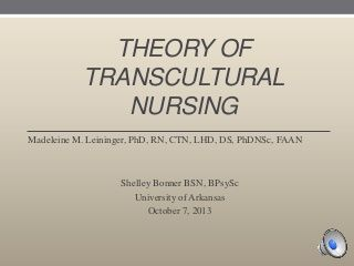 essay about transcultural nursing Reviewed and endorsed by the transcultural nursing society board of trustees march 2017 the transcultural nursing society remains committed to the values and beliefs reflected in the tcns human rights paper.