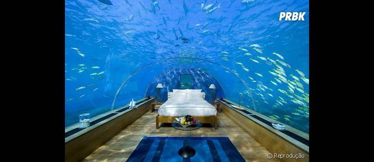 Mais um quarto subaquático pra você dormir contando peixinhos em vez de carneiros