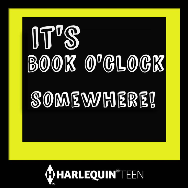 It's Book O'Clock Somewhere Pin