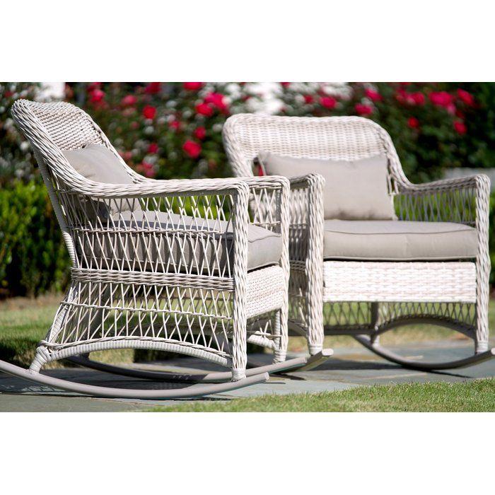 Chretien Pair Rocking Chair Rattan Rocking Chair Rocking Chair Set Outdoor Wicker Rocking Chairs