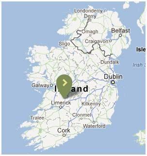 situation du lough derg, pour la peche du brochet en Irlande, avec Pierre Monjarret