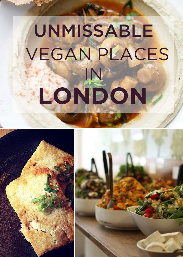 21 Unmissable Vegan Places In London. This is amazing! Vegan fish and chips? Vegan Japanese food!!!