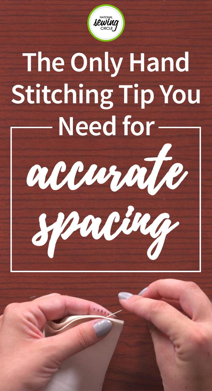 Many people tend to shy away from hand stitching because of either the length of time it takes to complete the stitching or the difficulty of ensuring that the stitches look nice and even. Ashley Hough shares a fun hand stitching tip that makes accurately spacing your hand sewing stitches quicker and easier.