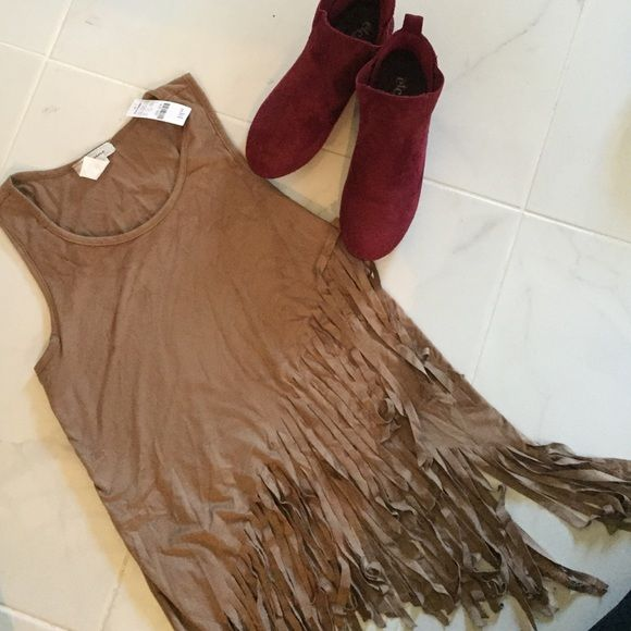 NWT fringe top New with tags fringe top Tops