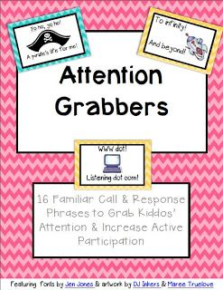 Ms. Jennifer's Kindiekins & First Graders: Attention Grabbers *FREE* Download :)