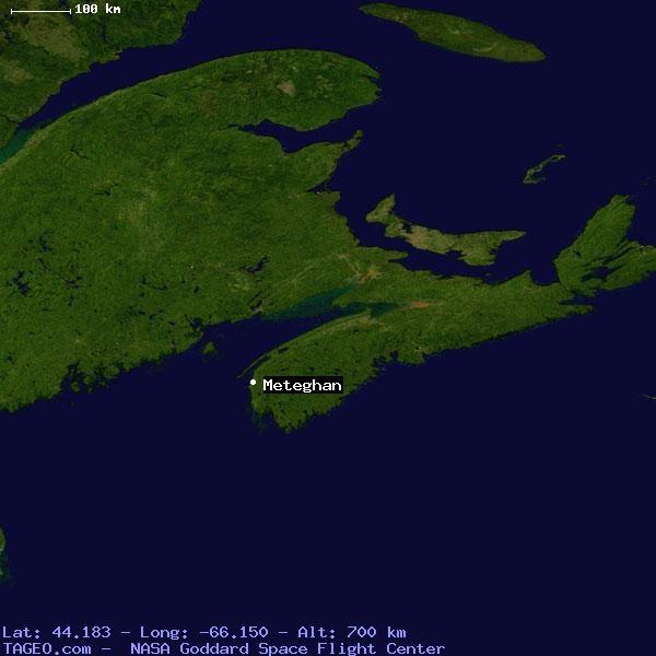 meteghan satelite map