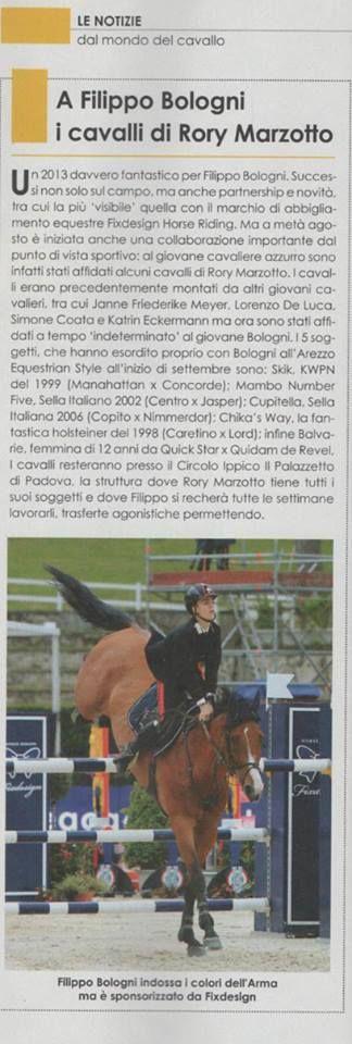 Il neo campione italiano di salto ostacoli x la categoria young riders, Filippo Bologni & Pariani, insieme tra le pagine di CAVALLI CAMPIONI. Per lui 5 nuovi #cavalli con cui ci sta già facendo sognare!!  #youngrider Filippo Bologni #equitazione #selle #campione