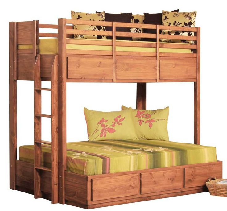 twin full bunk bed with 6 drawers on metal tracks pine