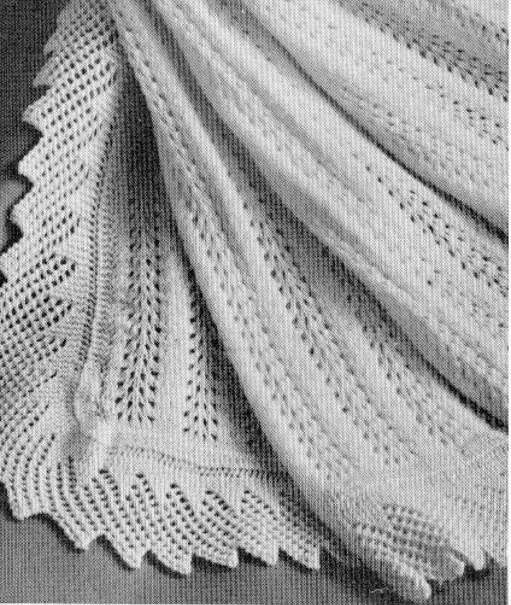 Vintage Knitting pattern-how to make feather & fan lace