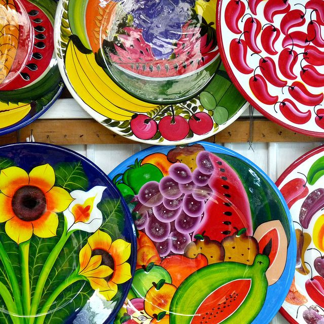 talavera--Talavera, in Puebla, Mexico, is a type of maiolica pottery, which is distinguished by a milky-white glaze . Authentic Talavera pottery only comes from the city of Puebla and the nearby communities of Atlixco, Cholula, and Tecali, because of the quality of the natural clay found there and the tradition of production which goes back to the 16th century