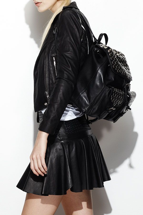 The coolest look for spring? Head-to-toe leather.