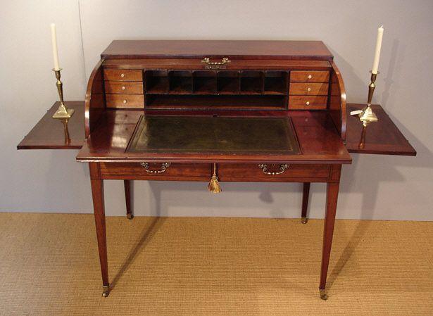 Georgian mahogany tambour desk http://www.thakehamfurniture.co.uk/. Antique  Writing ... - 96 Best Writing Desks Images On Pinterest Desks, Writing Desk