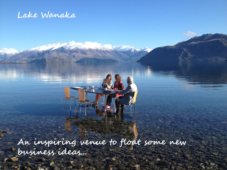 For a conference or meeting with a difference - try Lake Wanaka  http://www.lakewanaka.co.nz/new-zealand/Conferences-and-Weddings/