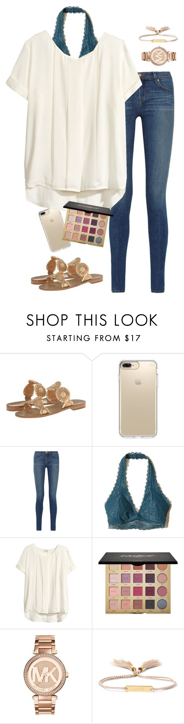 """I wish it was spring/ outfit #13"" by haleypowell0110 ❤ liked on Polyvore featuring Jack Rogers, Speck, J Brand, Hollister Co., H&M, tarte, Michael Kors and Chloé"
