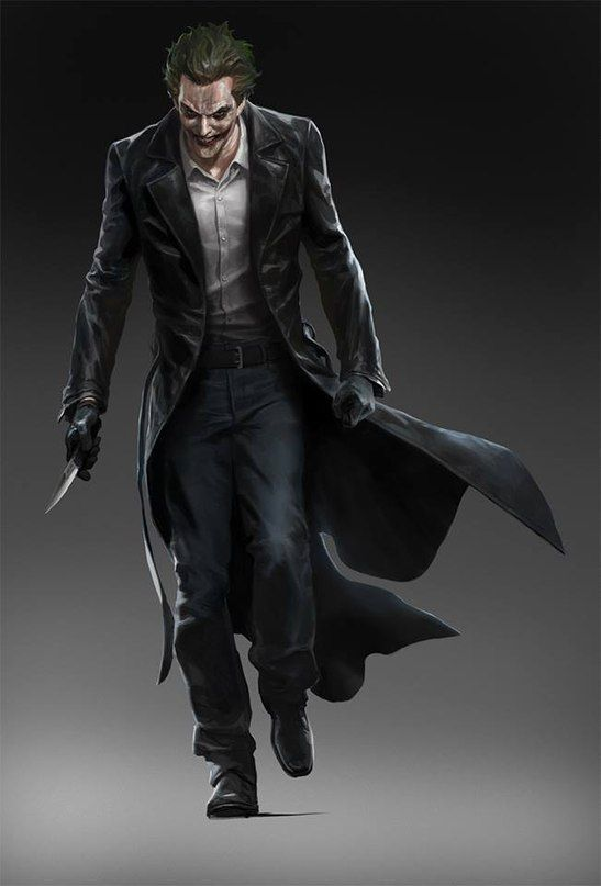 Joker Concept Art for BATMAN: ARKHAM ORIGINS by Wesley Burt