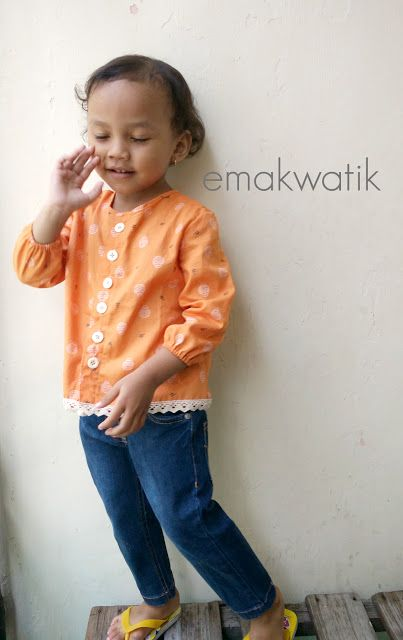 "Dowload Free Pattern Girl Shirt - Download Gratis Pola Blus anak ""Jus Jeruk """