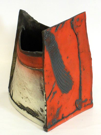 Ceramics by John Higgins at Studiopottery.co.uk - 2013. Constructed form- thrown and altered (2)