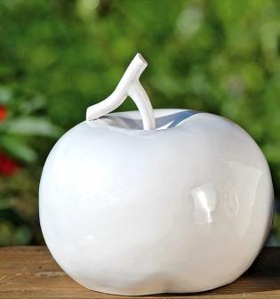 Keramiek appel - 20 cm -