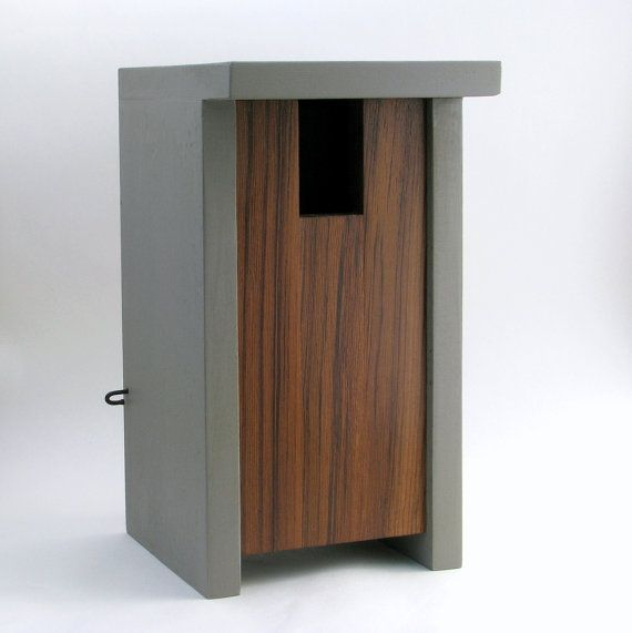 Birdhouse Modern Minimalist The Bird Box by twigandtimber on Etsy, $65.00