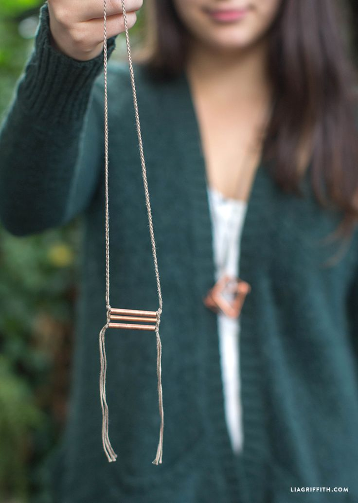 Copper Tubing DIY Jewelry - Lia Griffith