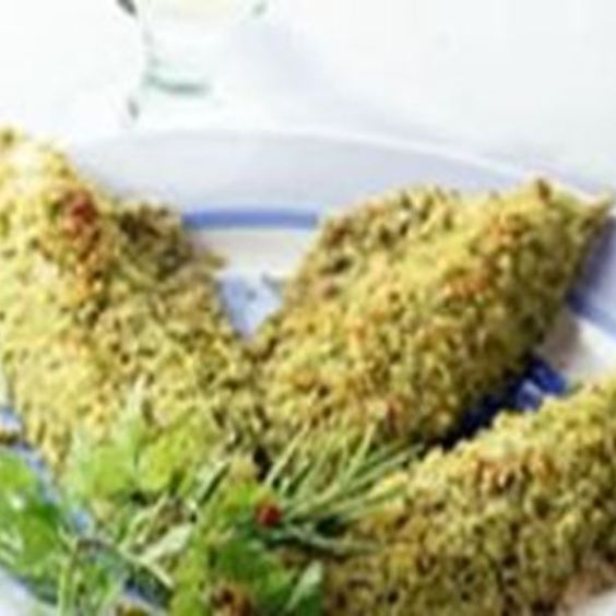 Filets de maquereau panés aux herbes et aux amandes