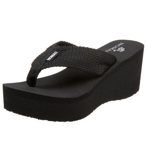 Nomad Footwear Women's Tide High Platform Thong, Black women womens women's  woman womans woman's footwear
