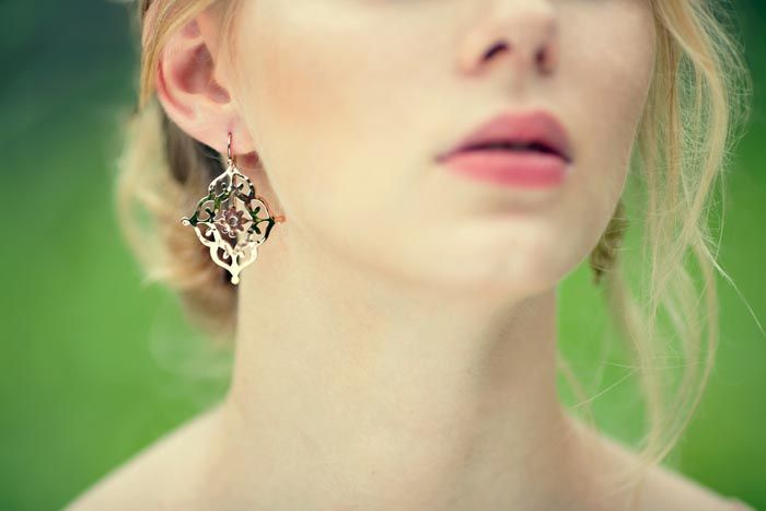 GYPSY earrings in Rose Gold www.murkani.com.au