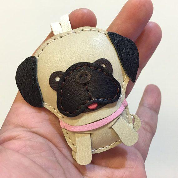 Tamaño pequeño Ruby el encanto Pug de cuero por leatherprince