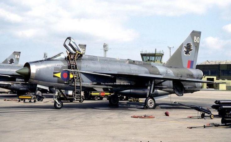 RAF No. 11 Squadron British Electric Lightning F.3 (1983).