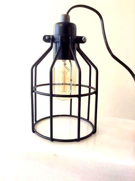 Cage table lamp industrial metal minimal table lamp by LightCookie, $50.00